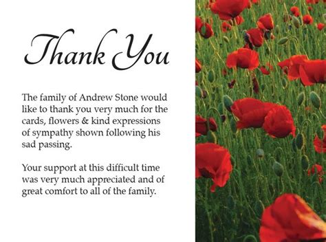 thank you card funeral template how to create word funeral thank you cards templates ideas