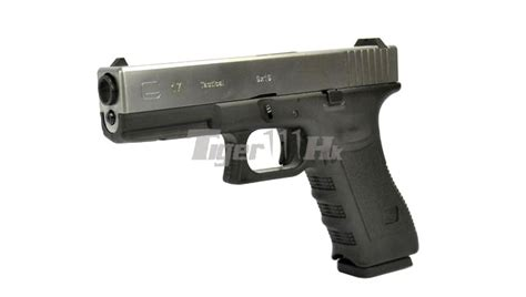 Airsoft Masterpiece Steel Frame Sv Silver we metal slide g17 gbb pistol silver black airsoft tiger111hk area