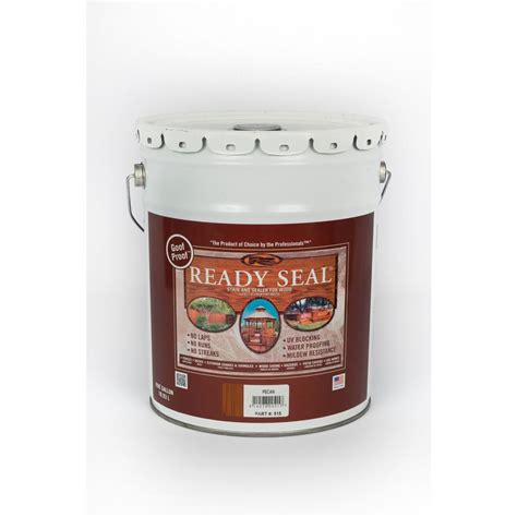 ready seal 5 gal pecan exterior wood stain and sealer 515 the home depot