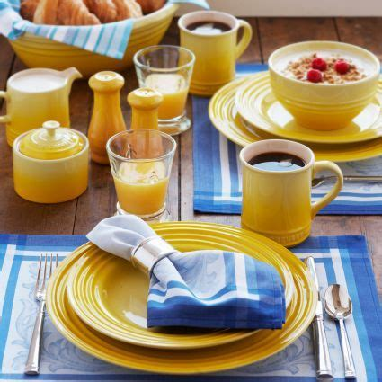 sur la table le creuset le creuset 174 soleil 16 dinnerware set available at