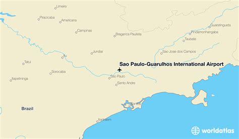 sao paulo on world map s 227 o paulo guarulhos international airport gru worldatlas