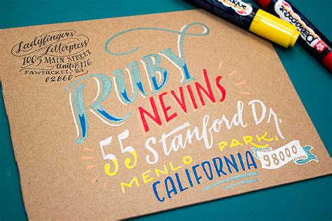 hand lettering tutorial love envelope address hand lettering tutorial from ladyfingers