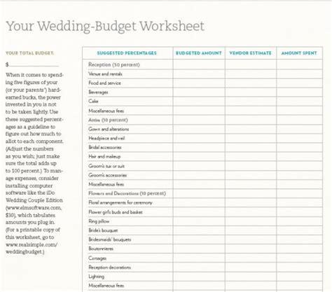 Galerry printable wedding planning worksheets Page 2