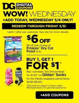 dog food coupons digital 6 1 friskies cat food dollar general digital coupons