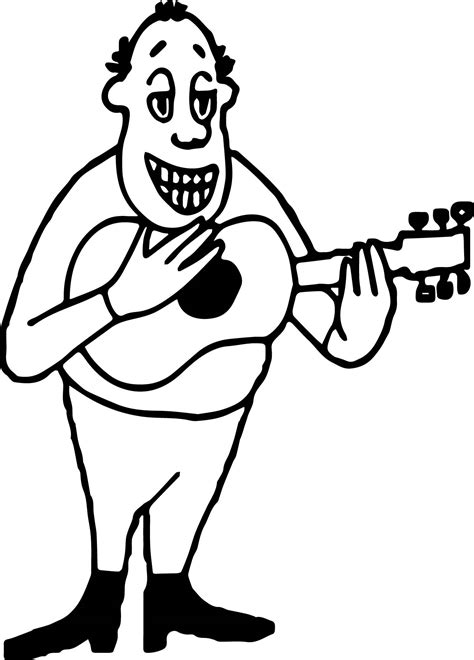 guitar player coloring page guitar player strumming guitar man coloring page