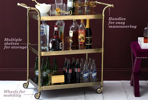 Kitchen Island Bar by The Essential Guide To Bar Carts One Kings Lane