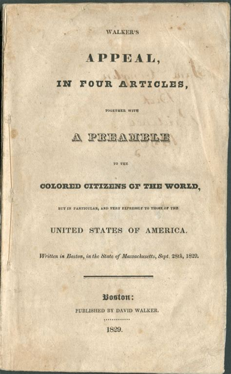 appeal to the colored citizens of the world black founders the free black community in the early republic