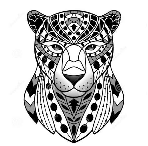 jaguar tattoo black and grey abstract black and grey ornamented jaguar portrait tattoo