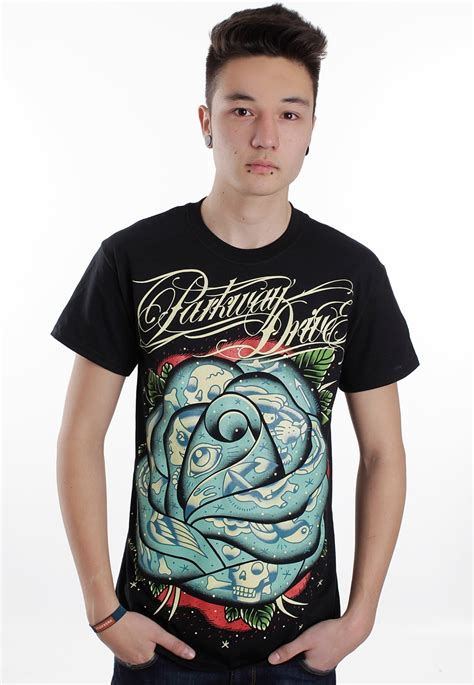 rose tattoo band shirt parkway drive t shirt impericon uk