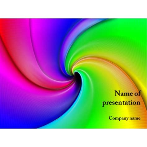 free rainbow powerpoint template background for