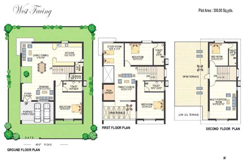 home maps design 100 square yard india floor plans richmond villas an residential project at