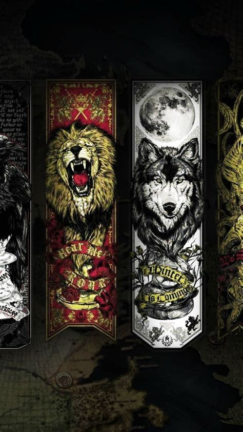 game  thrones lannister stark house wolf lion android