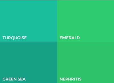 types of green color trendy flat ui color green beautiful exles in web