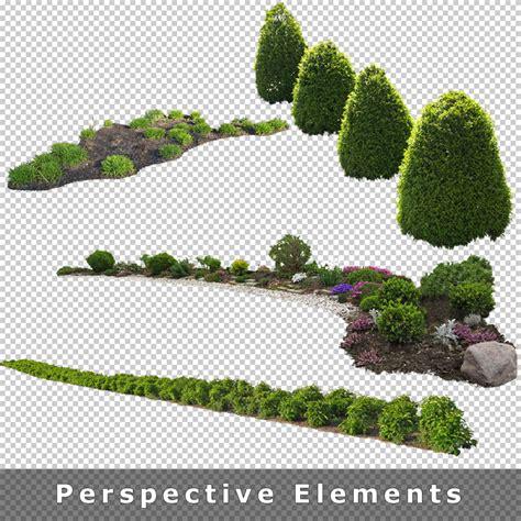 design elements garden cutout plants v01 graphics for architecture