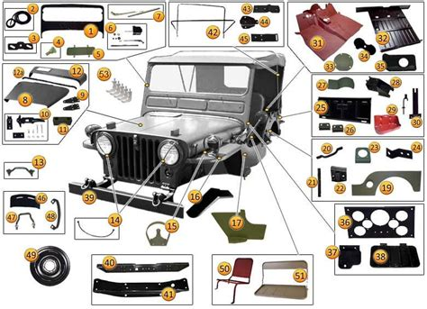 jeep willys parts 1948 1953 jeep m38 parts accessories morris 4x4