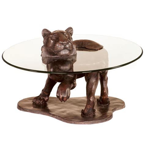 Tiger Tables by Bespoke Bronze Sculpture Stoddart Tiger Coffee Table