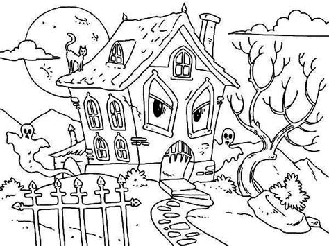 haunted house coloring pages haunted hay coloring page coloring pages
