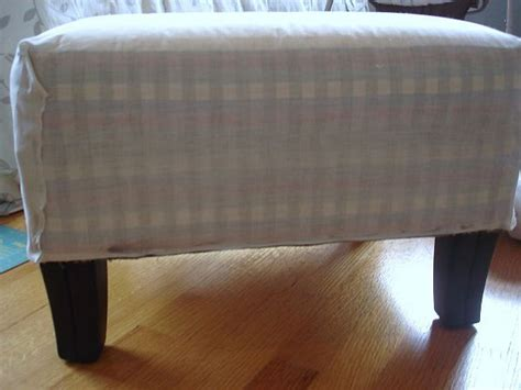 how to cover a ottoman how to make a burlap ottoman cover