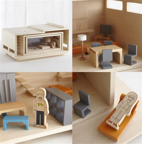land of nod doll house land of nod exclusive dollhouse modern natural wood doll house modern wood