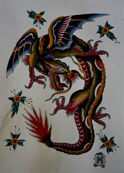 15 best images about dragon traditional tattoo on