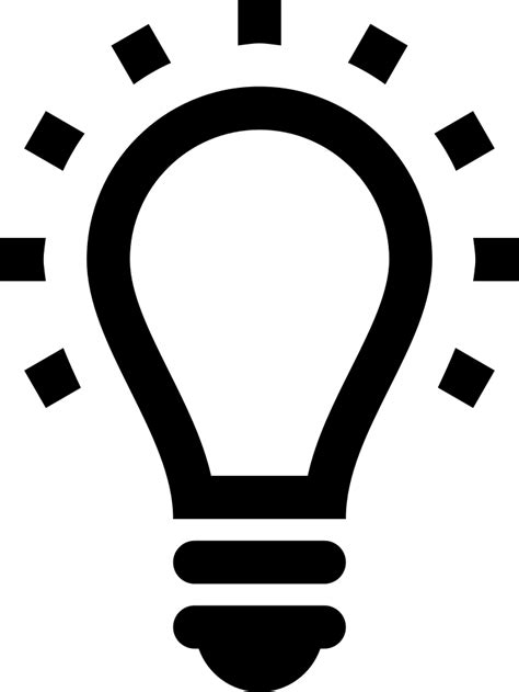 Lightbulb Svg Png Icon Free Download (#19638