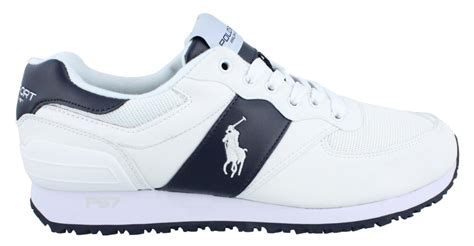 polo sport slaton pony lace up sneaker mens athletic