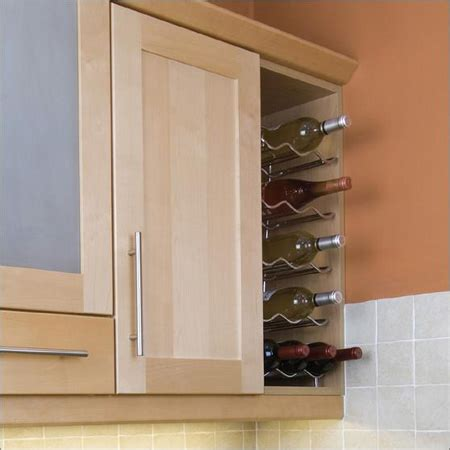 Kitchen Wine Rack Cabinet by 720 High Wall Cabinets With Chrome Wine Rack Shelves