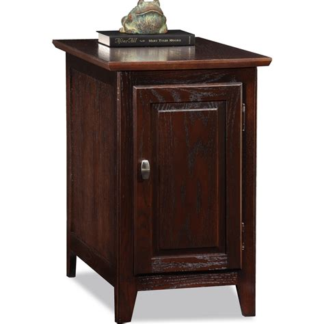 cabinet storage end table leick furniture 10072 ch