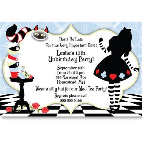 Mad Hatter Hat Card Template by In Sweet 16 Ideas In