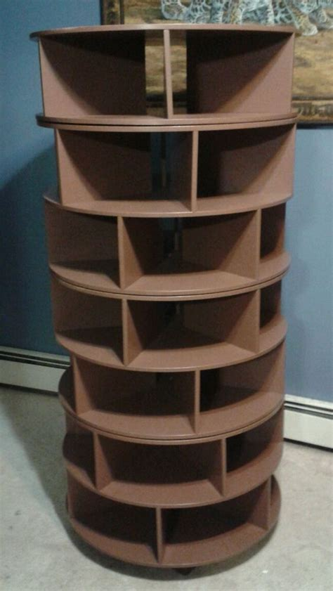 rotating shoe storage handmade shoe rack seven 7 tier brown swivel rack