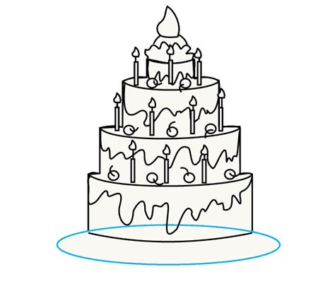 how do you draw a new year how to draw a cake easy drawing guides