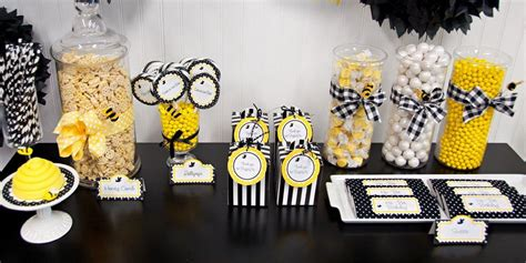 Diy Bumblebee Party Supplies Kids Party Supplies Bumble Bee Ideas
