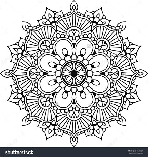 mandala coloring pages vector stock vector simple floral mandala for design or mehendi