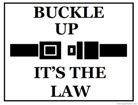 printable job application for buckle printable buckle up sign