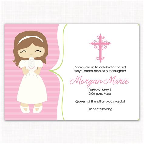 first communion invitation template invitation templates