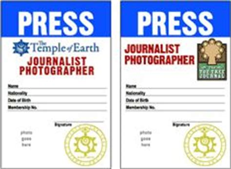 media press pass template the calm don ts and yearbooks on