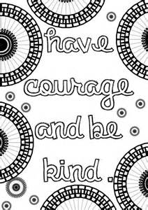 mandala coloring pages with quotes cinderella inspired grown up colouring pages courage