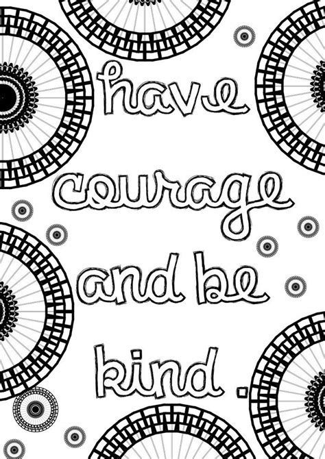 mandala coloring book with quotes cinderella inspired grown up colouring pages courage
