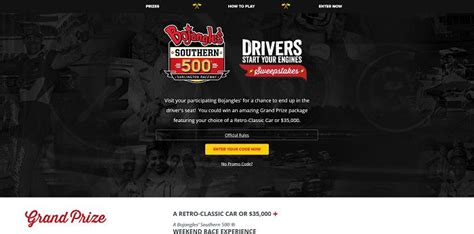 Bojangles Southern 500 Sweepstakes - winwithbo com bojangles southern 500 drivers start your engines sweepstakes