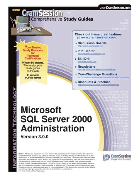 Microsoft Windows Server Administration Essentials 1st Edition sql server 2000 administration downloadable software