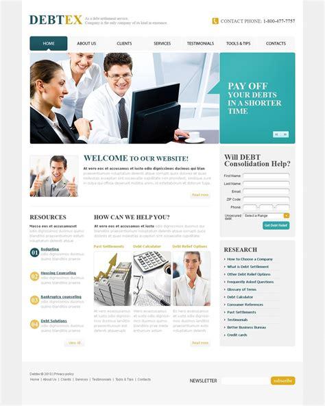 templates for finance website financial advisor website template 31188
