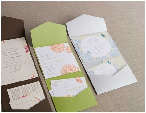 How To Make Different Types Of Handmade Envelopes - pocket fold wedding invitations cheap cards wedding