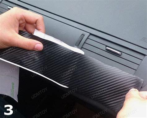How To Wrap Interior Trim by How To Apply Carbon Fiber Vinyl Sheet For Car Interior