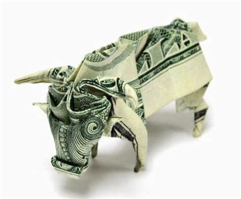 Origami Made Out Of Money - buffalo origami made out of money design origami