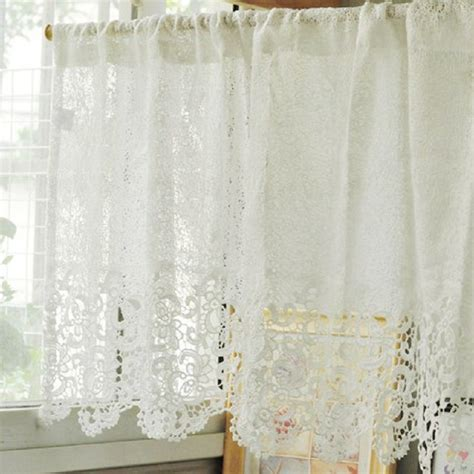 Kitchen Lace Curtains Aliexpress Buy Free Shipping Soluble Reticulocyte Lace Beautiful Coffee Curtain