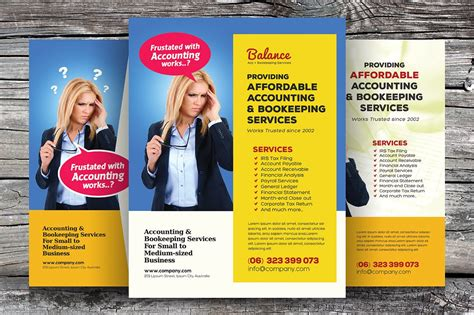 accounting bookkeeping flyers flyer templates