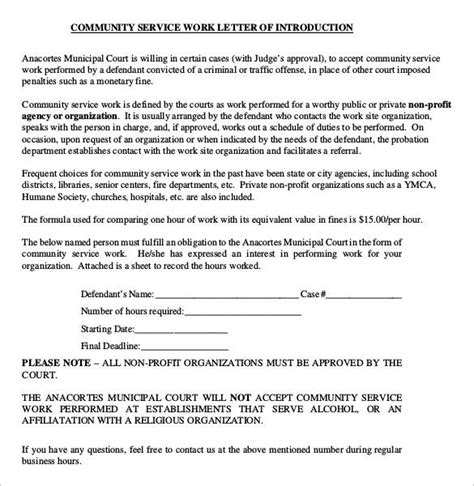 Letter In Community Service County Sle Community Service Letter 22 Free Documents In Pdf Word