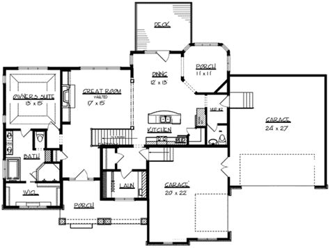 ranch home plan with safe room 73296hs architectural