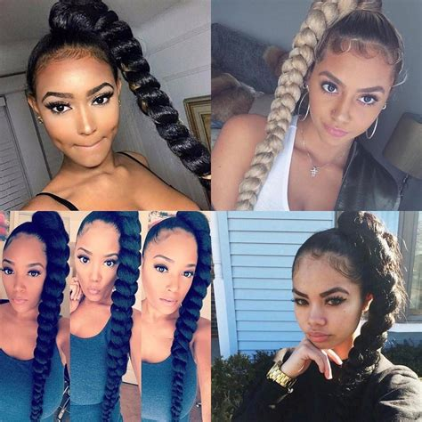 Ponytail Braid Hairstyles For Black Hair by Lovely Braids Ponytail Hairstyles For Black