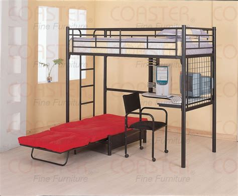 bunk bed with couch underneath bed with stairs build a